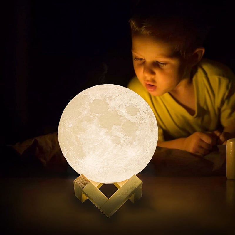 Rechargeable 3D Printed Moon Night Light