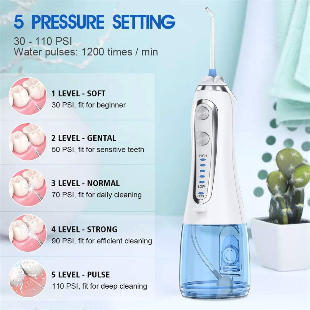 Portable Water Flosser with 5 Modes